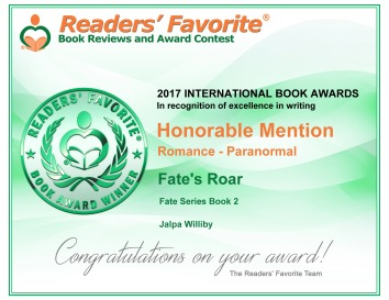 Fate's Roar award certificate